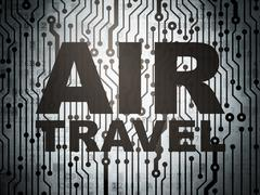 Travel concept: circuit board with Air Travel Stock Illustration