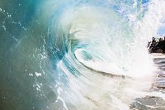 Rolling ocean wave, Encinitas, California, USA Kuvituskuvat