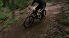 Extreme Mountain Biking at high velocity Stock Footage