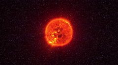 Loopable: Sun Surface With Solar Flares Stock Footage