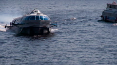 Hydrofoil Stands on Course HD Pro Stock Footage