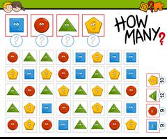 Preschool counting activity Stock Illustration