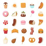Vector food icons Stock Illustration