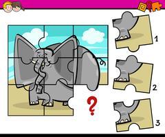 Jigsaw preschool activity task Stock Illustration