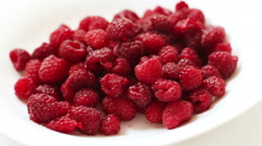 fresh raspberry  - stock footage