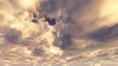 Epic CInematic Sky with Orange Storm Clouds Timelapse Stock Footage