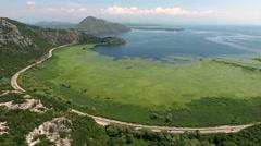 Montenegrin national park the Skadar lake (Skadarsko jezero) Stock Footage