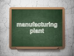 Industry concept: Manufacturing Plant on chalkboard background Piirros