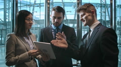 Business Partners in Elevator Stock Footage