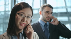 Busy Young Entrepreneurs Stock Footage