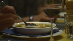 Italian soup dish Stock Footage