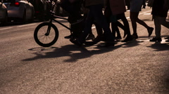 Stream of People in the City Center HD Pro Stock Footage
