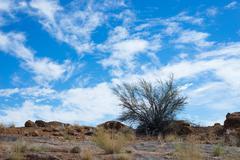 Dynamic Cloud sky in Augrabies Falls National Park Stock Photos