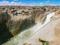Augrabies Waterfall the Orange River - stock photo