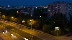 Yekaterinburg Tram_Timelaps - Shift_night to day Stock Footage