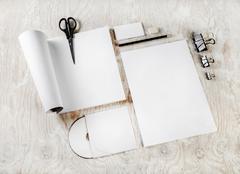 Blank corporate identity - stock photo