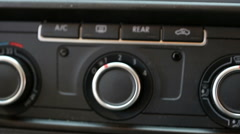 Van dashboard with climate control air conditioning AC Stock Footage