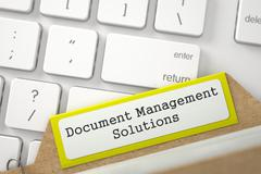 Folder Index with Document Management Solutions Stock Illustration