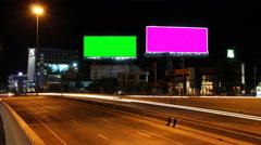4K Timelapse highway and big billboard. Stock Footage