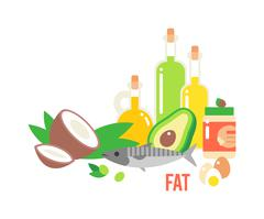 Different Kind Of Healthy Fat - stock illustration