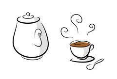 Coffee or Tea Set - stock illustration