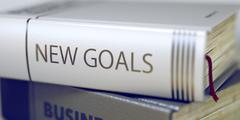Book Title on the Spine - New Goals Stock Illustration