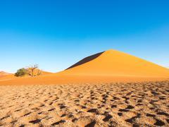 Sand dune in Namibia, Dune 45, Sossusvlei, Namibia Stock Photos