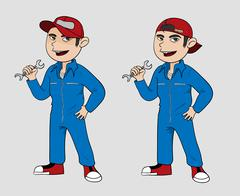 Mechanic Cartoon Stock Illustration