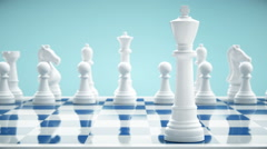 Chess Board And King - stock footage