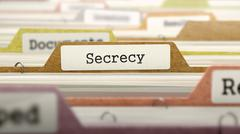 Secrecy Concept on File Label Stock Illustration