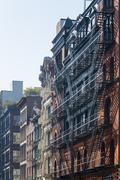 Soho apartment buildings, downtown Manhattan, New York, USA - stock photo