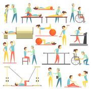 Physical Therapy Infographic Illustration - stock illustration
