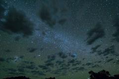 Starry sky, Milky Way, at Brandenberg, Brandenberg Campsite, Namibia - stock photo