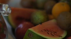 Beautiful dynamic view of healthy fruits food Stock Footage