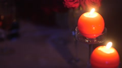 Dinner romance blurred background Stock Footage