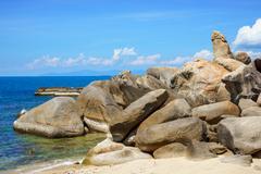 Hin ta (Grandfather's rock), Ko Samui landmark, Thailand - stock photo