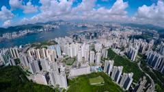 Aerial Hong Kong Pan Shot 4K. Arkistovideo