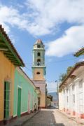 The San Francsco de Ass Church in Trinidad Stock Photos