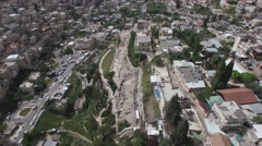 Jerusalem - Aerial view of Siloam tunnel Stock Footage