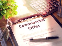 Commercial Offer - Text on Clipboard Stock Illustration