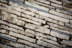 Abstract brickwork pavement Stock Photos