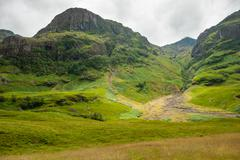 Glencoe, Highland, site of the massacre against the Clan MacDonald of Glencoe in - stock photo