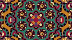 Tribal ornament kaleidoscope - stock footage