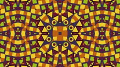 Tribal ornament kaleidoscope Stock Footage