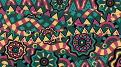 Tribal ornament kaleidoscope Stock Footage