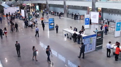 "Exhibits at the exhibition ""RosUpack"" at Crocus Expo Stock Footage"