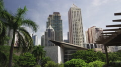 Makati Greenbelt Commercial Complex Stock Footage