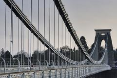 Clifton suspension bridge over river Avon, Bristol, UK - stock photo