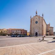 The Gothic-Renaissance dome in Montagnana, Italy. - stock photo