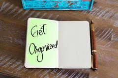 Handwritten Text Get Organized Stock Photos
